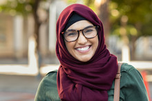 Smiling Young Woman In Hijab