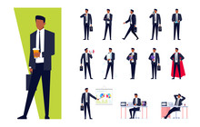African American Businessman Set