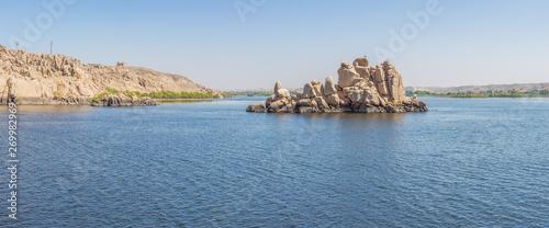 Photo Panorama of the Nile seen from Agilkia island in Lake Nasser