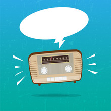 Abstract Vintage Radio On Grun...
