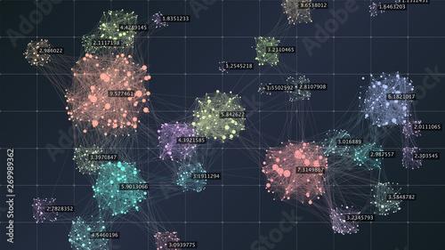 Fotografiet Big data complexity visual representation