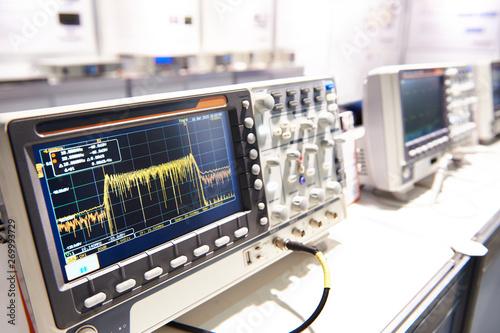 Oscilloscope spectrum analyzer Wallpaper Mural