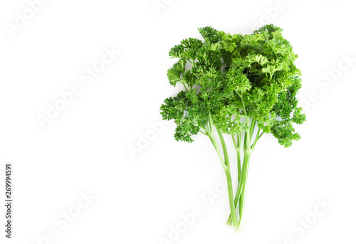 Fotomural  Parsley vegetable isolated on white background