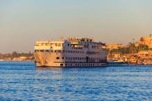 Cruise Ship Sailing On The Nile River, Egypt