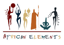 African Elements Silhouette Ma...