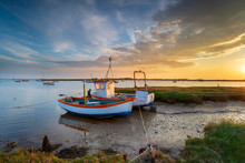 Fishing Boats On The Mouth Of The River Alde