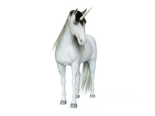 3d Rendered Illustration Of A Unicorn Isolated On White