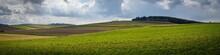Freshly Plowed Field In Spring In The Waldviertel, Austria