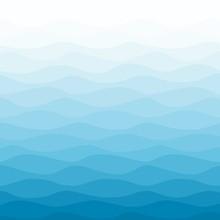 Sea Water Wavy Blue Nautical Background