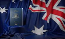 Australian Passport On The Fla...