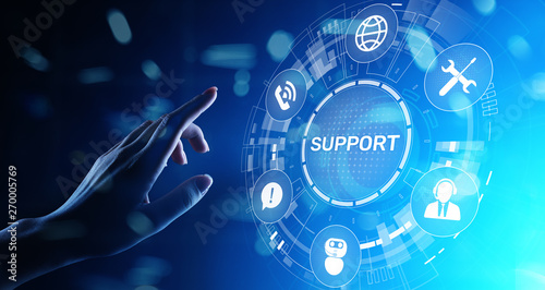 Stampa su Tela Support button on virtual screen