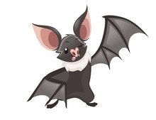 Cartoon Bat. Cute Vampire Bat,...