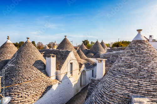 village Alberobello with gabled (trullo) roofs, Puglia, Italy Wallpaper Mural