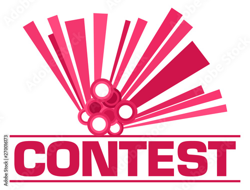 Poster Individuel Contest Pink Graphical Element Text