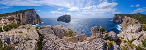 Fényképezés  Capo Caccia and plain island in Sardinia