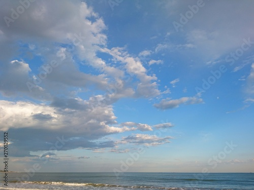 Foto op Canvas Luchtsport Bright blue sky and soft clouds
