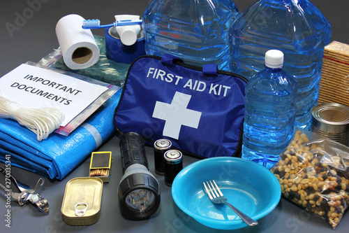 Foto  Disaster preparedness items
