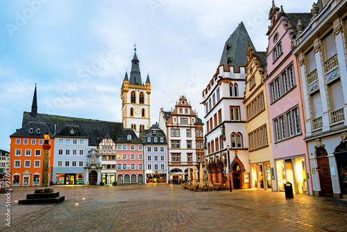 Fotografie, Obraz  Historical Main Market square in the Old Town of Trier, Germany