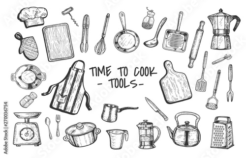 Fotografía  Tme to cook tools and appliances set