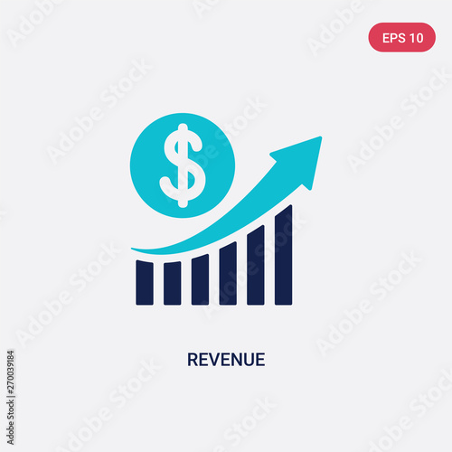 Cuadros en Lienzo  two color revenue vector icon from business and analytics concept