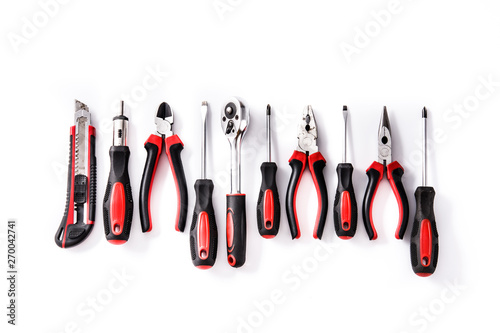 Cuadros en Lienzo Building tools repair set isolated on white background