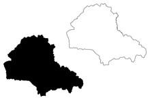 Brasov County (Administrative Divisions Of Romania, Centru Development Region) Map Vector Illustration, Scribble Sketch Brasov Map