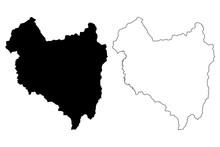 Covasna County (Administrative Divisions Of Romania, Centru Development Region) Map Vector Illustration, Scribble Sketch Covasna Map