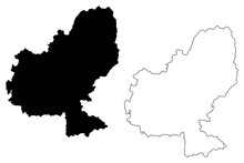 Mures County (Administrative Divisions Of Romania, Centru Development Region) Map Vector Illustration, Scribble Sketch Mures Map