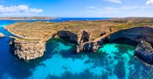 Malta. Comino Island Caves.
