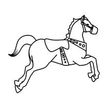 Carousel Horse Carnival Icon Vector Illustration