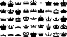 Illustration Vector Simple Crown Icon Collection