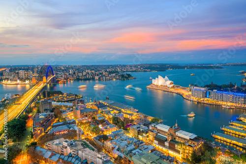 Printed kitchen splashbacks Athens Downtown Sydney skyline in Australia