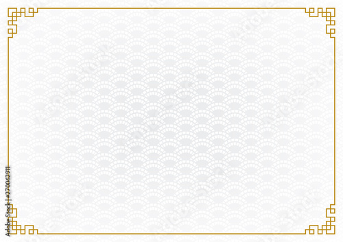 Obraz chinese new year background, abstract oriental wallpaper, white wave inspiration, vector illustration  - fototapety do salonu