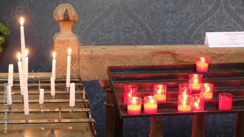 bougies de prières Fototapeta