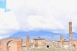 Ruins of Pompeii with Mt. Vesuvius in Southern Italy
