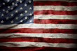 canvas print picture - Grunge American flag