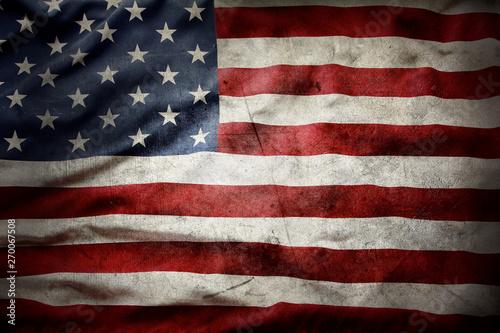 Obraz Grunge American flag - fototapety do salonu