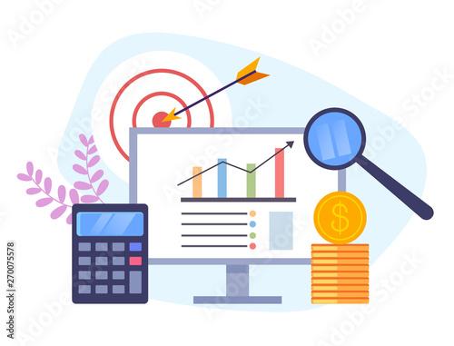 Photo  Banking management concept