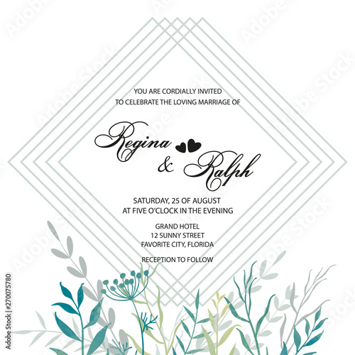 Wedding Invitation Card Template For The Invitation Frame
