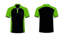T-shirt Polo Green And Black T...