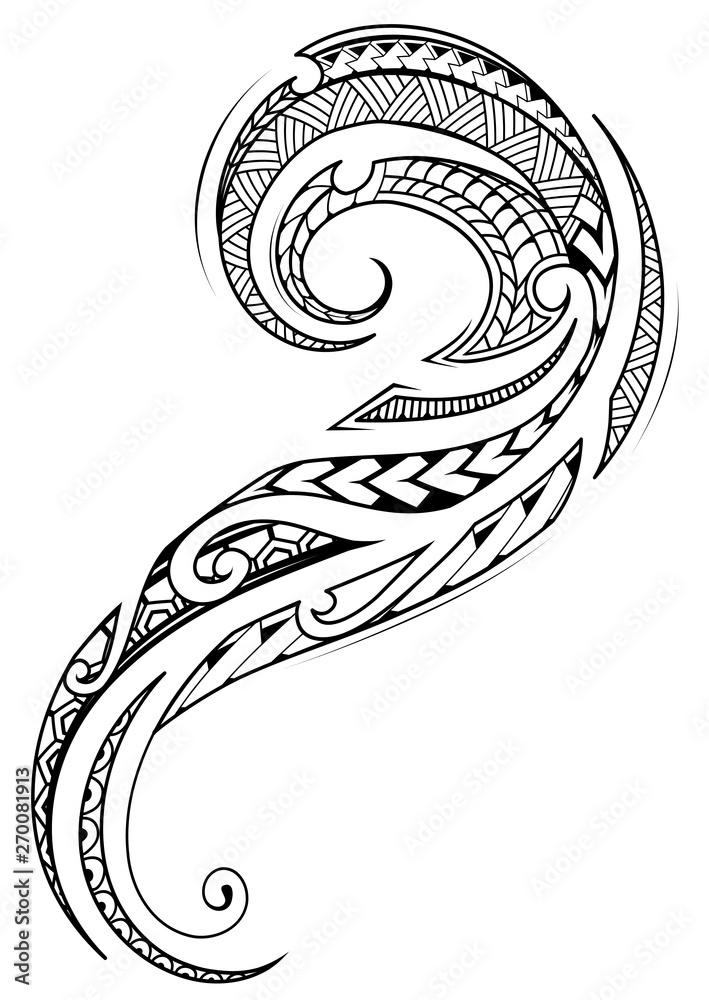 Fototapeta Maori style tattoo design