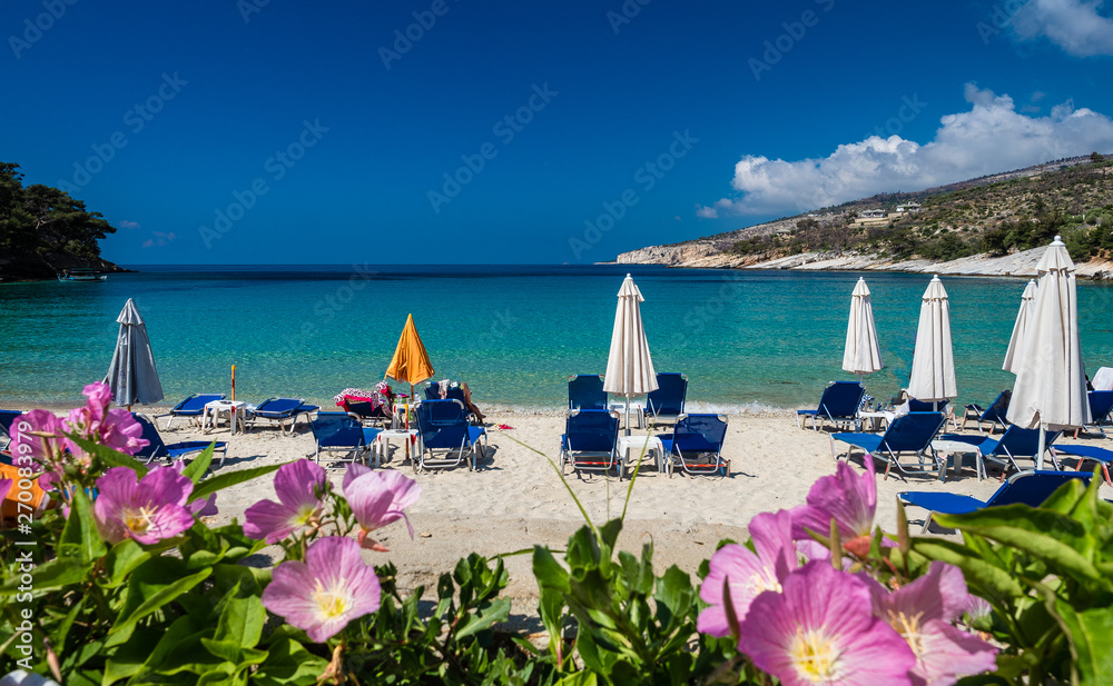 Fototapety, obrazy: Amazing bay with beach Aliki, Thassos islands, Greece