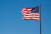 USA American Flag Waving In Th...