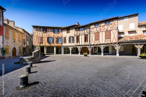 Central place of Lautrec Village Canvas