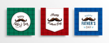 Father Day Card Set Of Plaid B...