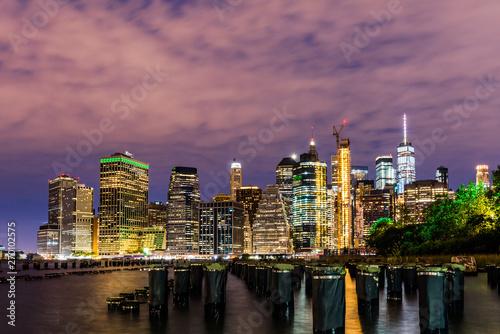 Manhattan panoramic skyline. Office buildings and skyscrapers. New York City, USA..