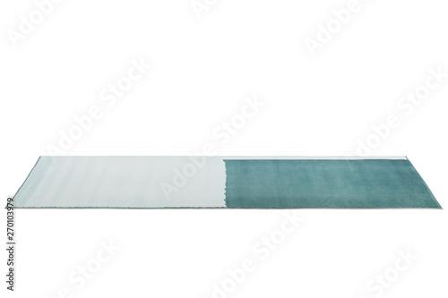 Fotografie, Obraz  Modern light blue two-color rug. 3d render