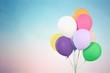 Leinwandbild Motiv Bunch of colorful balloons on background