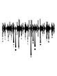 canvas print picture - tonspur tropfen graffiti spiegelung ton play coole laut regler pause party feiern musik spielen spaß tanzen club disko dj hören sound melodie song liebe leben besser konzert band logo