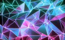 3d Rendering, Neon Crystallize...